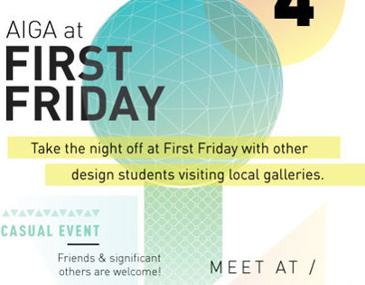 AIGA First Friday Flyer