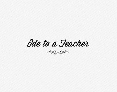 Script for Thank You Teacher Campaign
