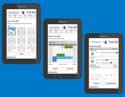 CloudClock for Android Tablet - Gen 2.5 Wireframes