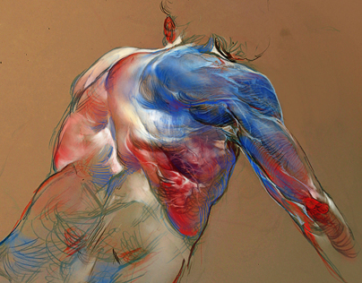 life drawing - paint overs