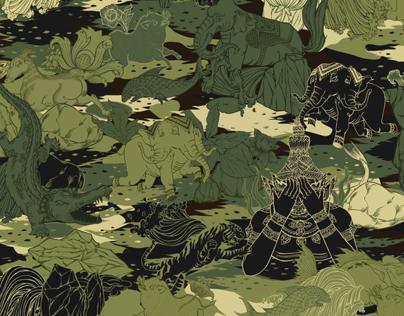 Hide and Seek VANDAVANDA Thai Tattoo Camouflage