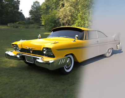 Plymouth Car (3ds max & Keyshot)