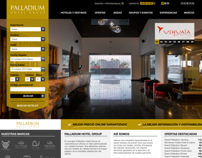 Palladium Hotel Group - Propuesta Web