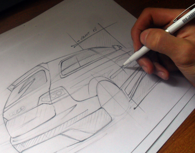 SKETCHES Tuning Car