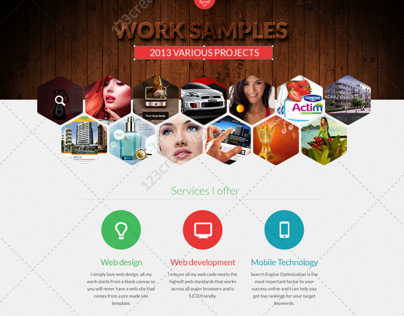 PSD web template for designer