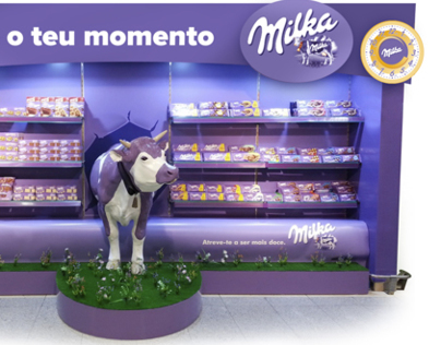 Milka POS communication and product display