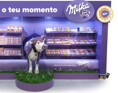Milka POS communication and product display