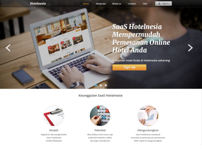 SaaS Hotelnesia Website