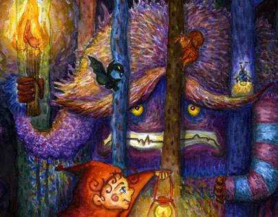 Monster whos afraid of darkness