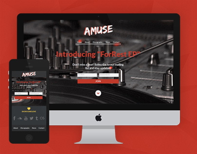 AMUSE - Adobe Muse Template For Musicians