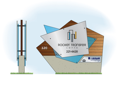 Rocket Transfer Lofts - monument sign