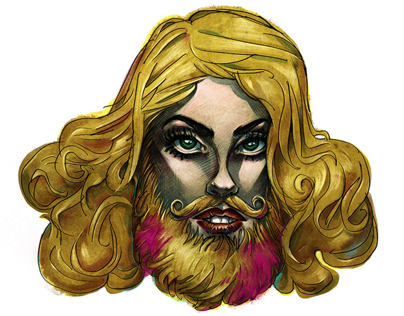 Bearded Lady Gaga