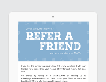 Refer-A-Friend // Email Marketing & Postcard