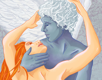 Eros + Psyche (digital illustration)