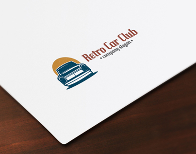 Retro Car Club Logo