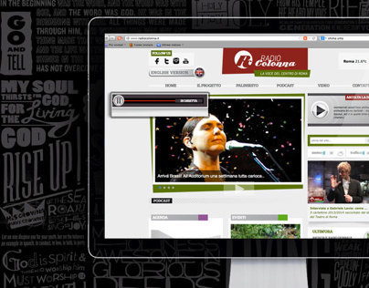 Website for a web radio Radio Colonna