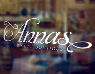 Annas Bridal Boutique - Branding and Storefront Signage