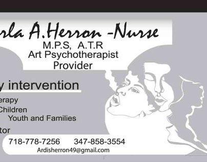 Art Psychotherapist Business Cards