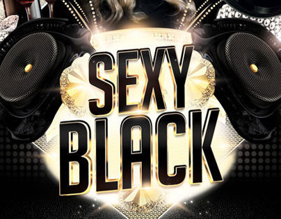 Sexy Black Flyer Template