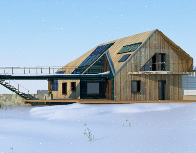 Project eco-house under the concept recreational cluste