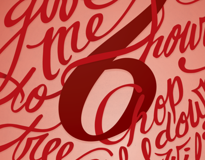 Give Me Six Hours | Hand-lettered Poster