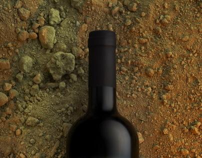 Wine bottles still life