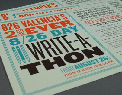 826 Day Write-a-thon