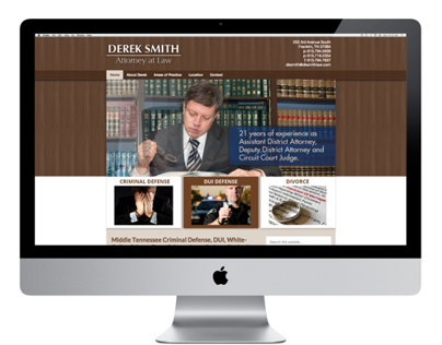 Website Design for Derek Smith, Attorney at Law