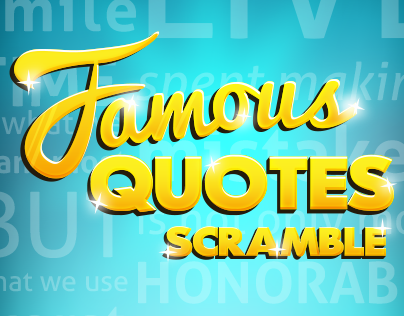 Famous Quotes Scramble