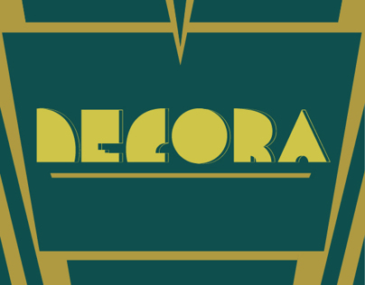 Decora - Art Deco inspired typeface