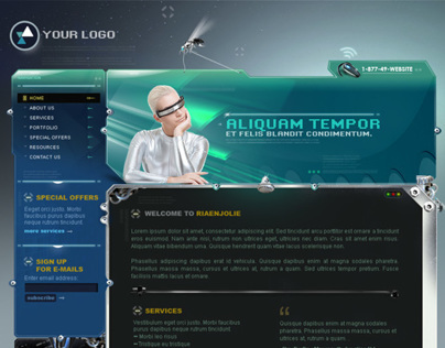 Futuristic Website Design