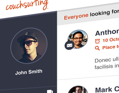 Couchsurfing Redesign