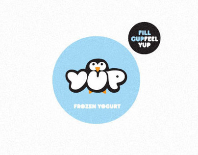 YUP FROZEN YOGURT. Brand identity.