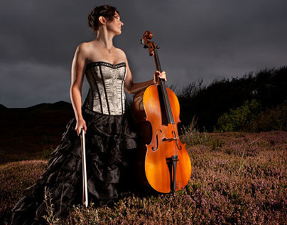 Cellist in the Dunes