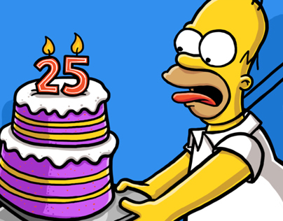 the Simpsons 25th Anniversary