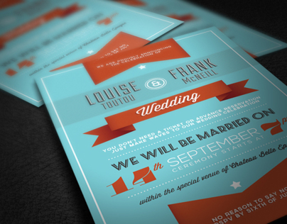 Retro Love Wedding Invite III