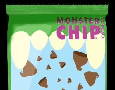 Monster Chip Cookie Packaging