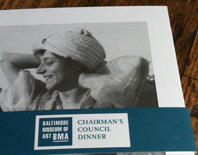 Invitation for The Baltimore Museum of Art