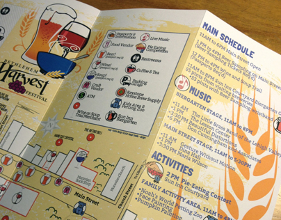 Bethlehem Harvest Festival Map + Brochure