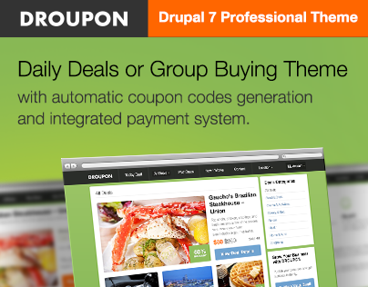 Droupon - Daily Deals or Group Buying Drupal 7 Theme