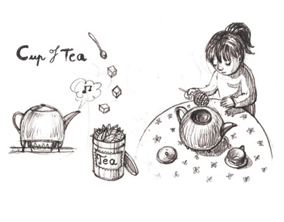 Cup of Tea - silent comic