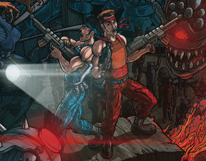 CONTRA 3 - THE ALIEN WARS FANART
