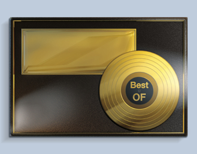 3D work - Gold Disk With Case