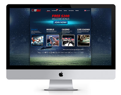 10bet Landing Page Concept