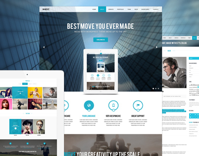 Move - Responsive One Page Parallax Template