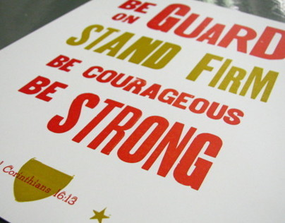 Letterpress - Be On Guard