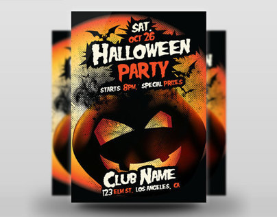 Pumpkin Halloween Flyer
