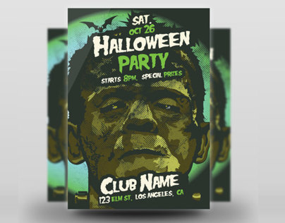 Frankensteins Monster Halloween Flyer