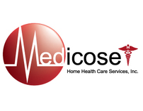 Medicose Home Health Care logo + marketing collateral