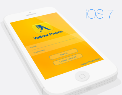 Yellow Pages iOS 7 Design
